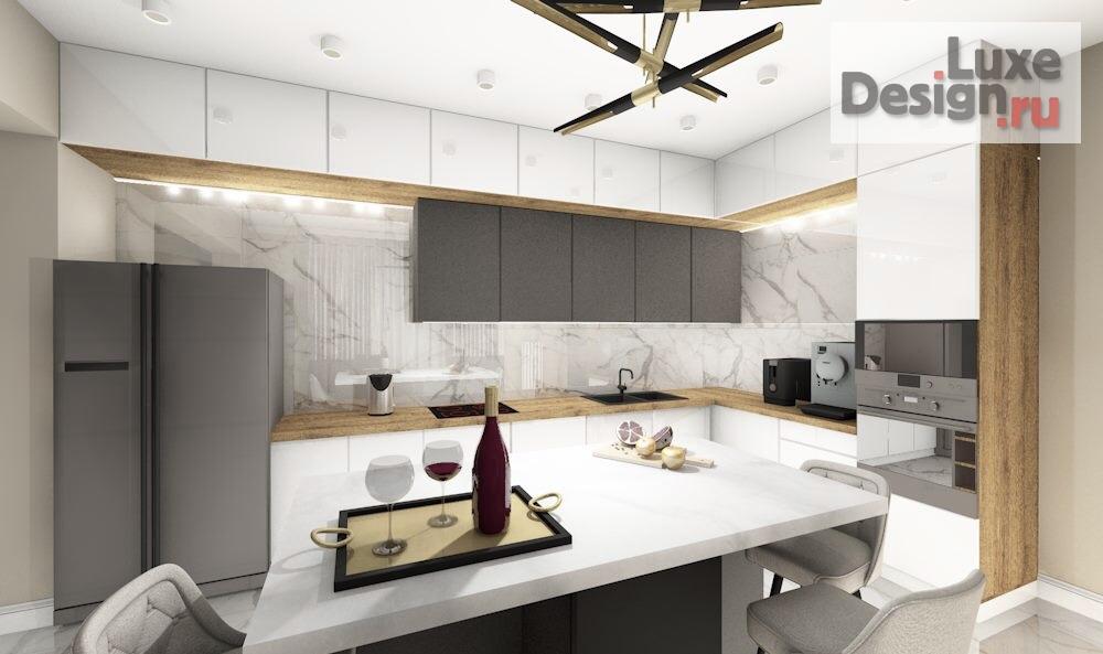 """Дизайн интерьера кухни """"Кухня с островом"""" (фото 3)"""